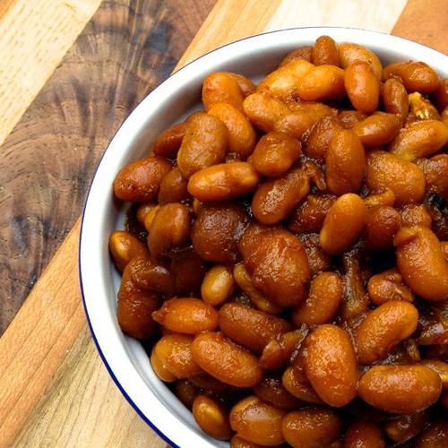 Slow Cooker Vegetarian Boston Baked Beans by The Lemon Bowl