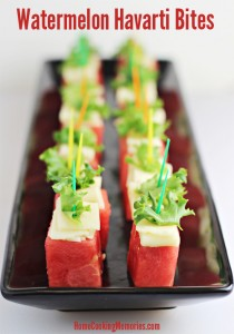 Summer Party Food: Watermelon Havarti Bites