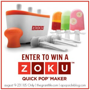 Zoku Quick Pop Maker GIVEAWAY! (ends 8/23)