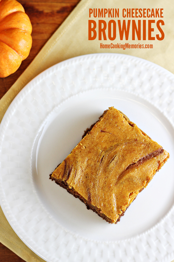This Easy Pumpkin Cheesecake Brownies recipe starts with a simple boxed brownie mix, but then you add a homemade pumpkin cheesecake layer! An easy fall dessert that is great for parties, bake sales, or just because!