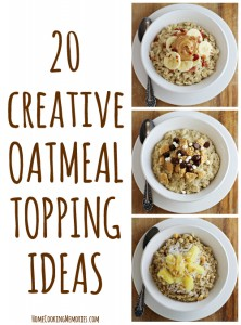 20 Creative Oatmeal Topping Ideas (with free printable)