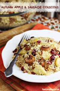Autumn Apple and Sausage Couscous