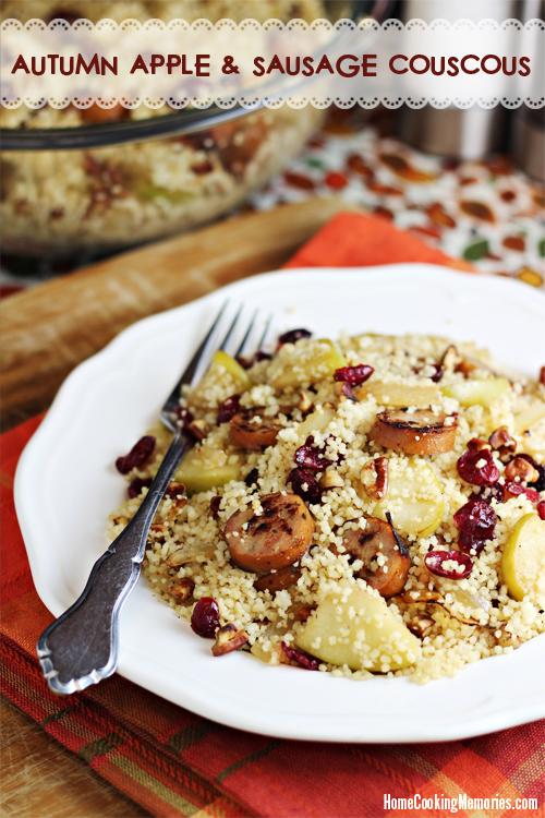 Autumn Apple and Sausage Couscous