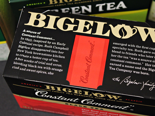 Bigelow Tea - new package design - stories