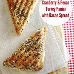Cranberry and Pecan Turkey Panini with Bacon Spread