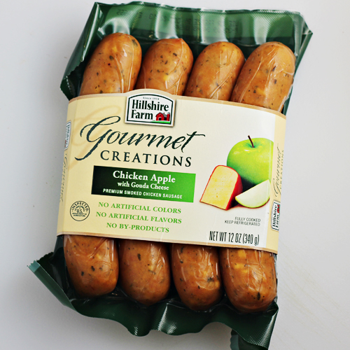 Hillshire Farm Gourmet Creations Chicken Apple with Gouda Cheese Sausage