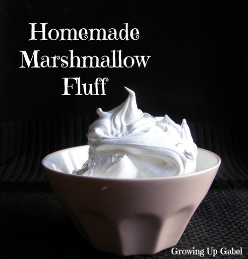 Homemade Marshmallow Fluff by Growing Up Gabel