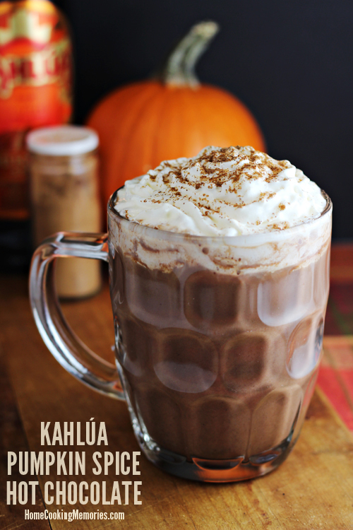 Pumpkin Spice Hot Chocolate recipe takes your usual hot chocolate ...