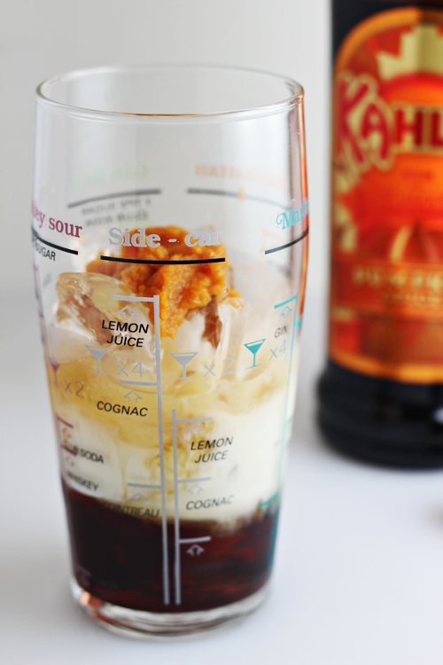 Kahlúa Pumpkin Spice Martini recipe -- an Autumn-inspired cocktail featuring limited edition Kahlúa Pumpkin Spice liqueur