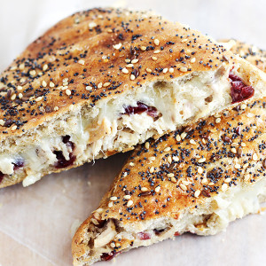 Leftover Turkey Salad Panini Sandwich with Cranberries and Pecans