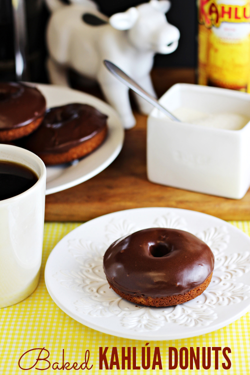 Baked Kahlúa Donuts -- great for breakfast, but even better with a cup of coffee after dinner