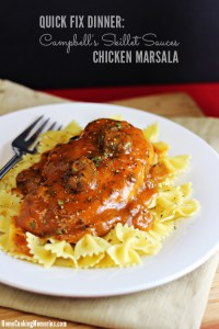 Quick Fix Dinner: Chicken Marsala with #CampbellSauces