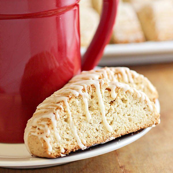 Eggnog Biscotti, shared by Home Cooking Memories at The Chicken Chick's Clever Chicks Blog Hop