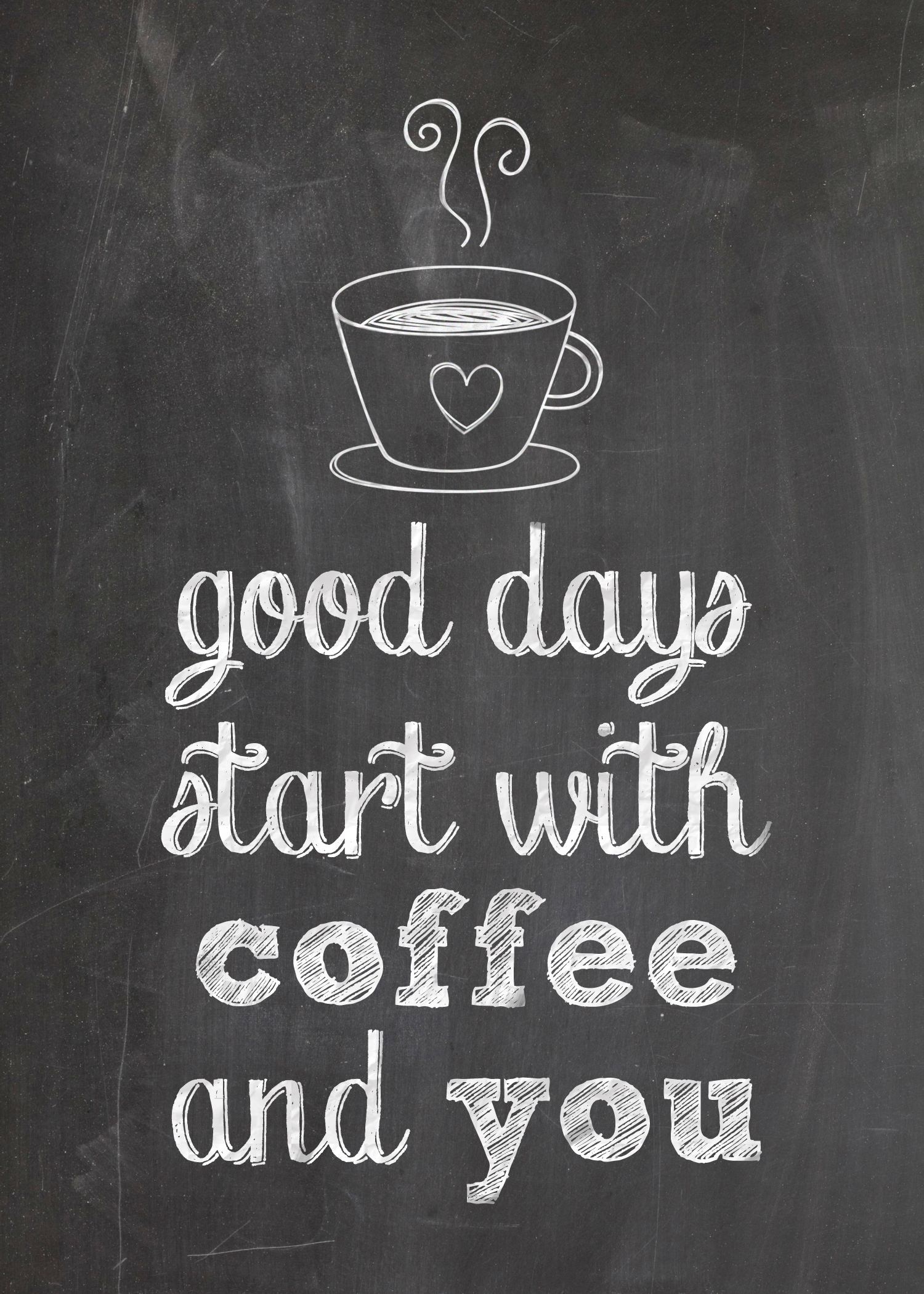 Free Printable For Coffee Lovers Good Days Start With Coffee And
