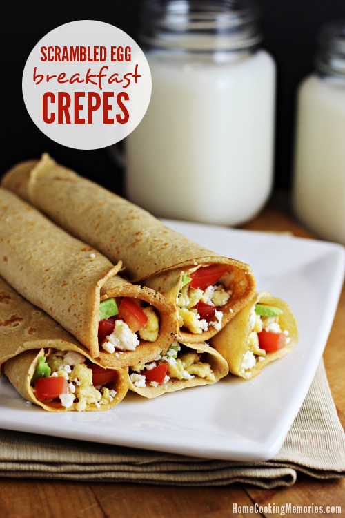 Scrambled Egg Breakfast Crepes Recipe