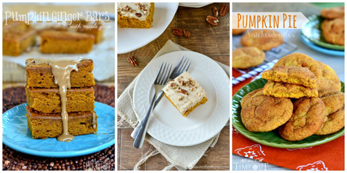 Recipes that use 3/4 cup pumpkin purée