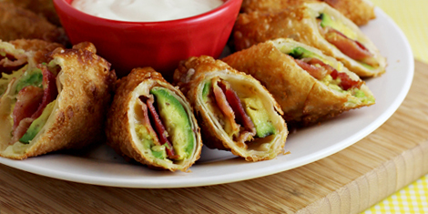 Avocado Bacon Egg Rolls