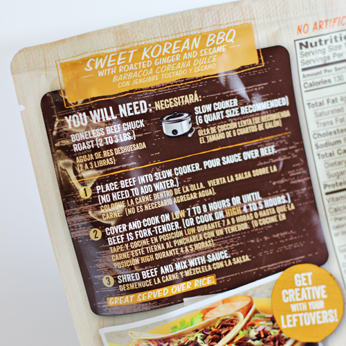 Campbell's Sweet Korean BBQ Slow Cooker Sauces   #CampbellsSkilledSaucers