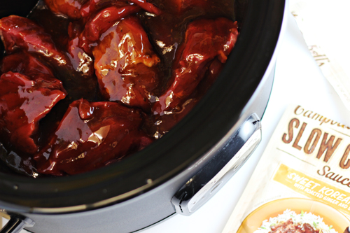 Campbells Sweet Korean BBQ Slow Cooker Sauces #CampbellsSkilledSaucers
