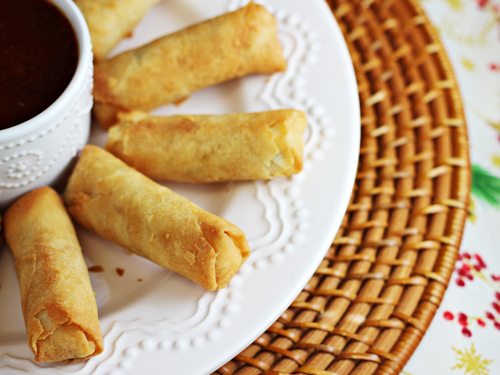 Sweet and Spicy Pineapple Sauce with SeaPak Shrimp Spring Rolls #PakTheParty #shop #cbias