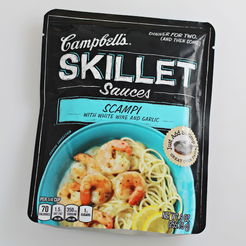 Campbell's Skillet Sauces - Scampi with White Win and Garlic