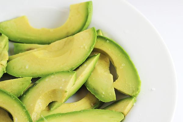 Sliced Avocados for Avocado Bacon Egg Rolls Recipe