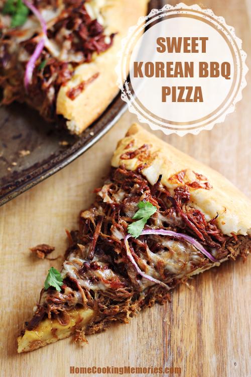 Sweet Korean BBQ Pizza #CampbellsSkilledSaucers