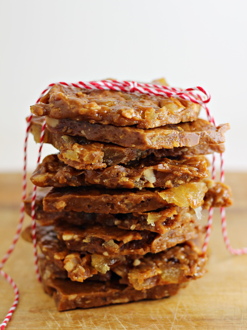 Tropical Toffee Brittle - Home Cooking Memories