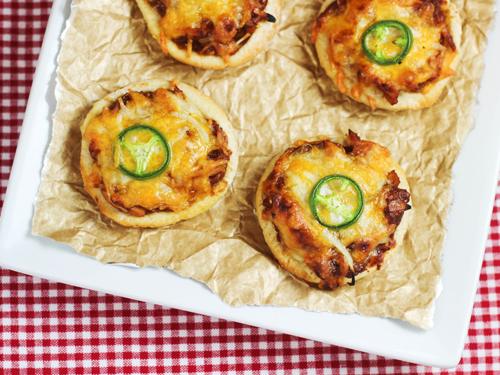 BBQ Chicken Mini Pita Pizzas