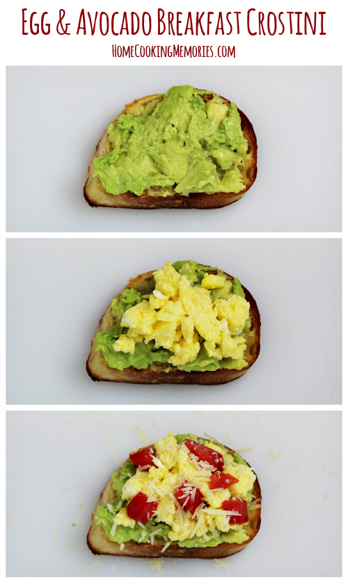 Egg and Avocado Breakfast Crostini