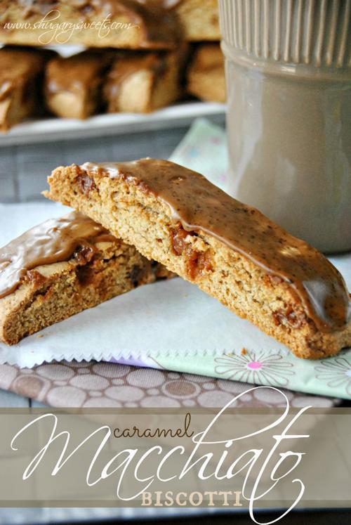 Caramel Macchiato Biscotti from Shugary Sweets