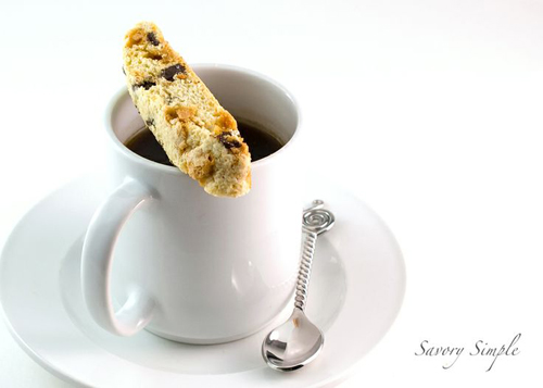 Chocolate Chip Butterscotch Biscotti from Savory Simple