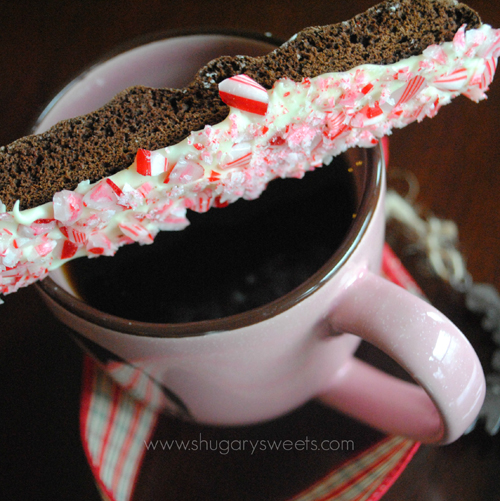 Chocolate Peppermint Biscotti from Shugary Sweets