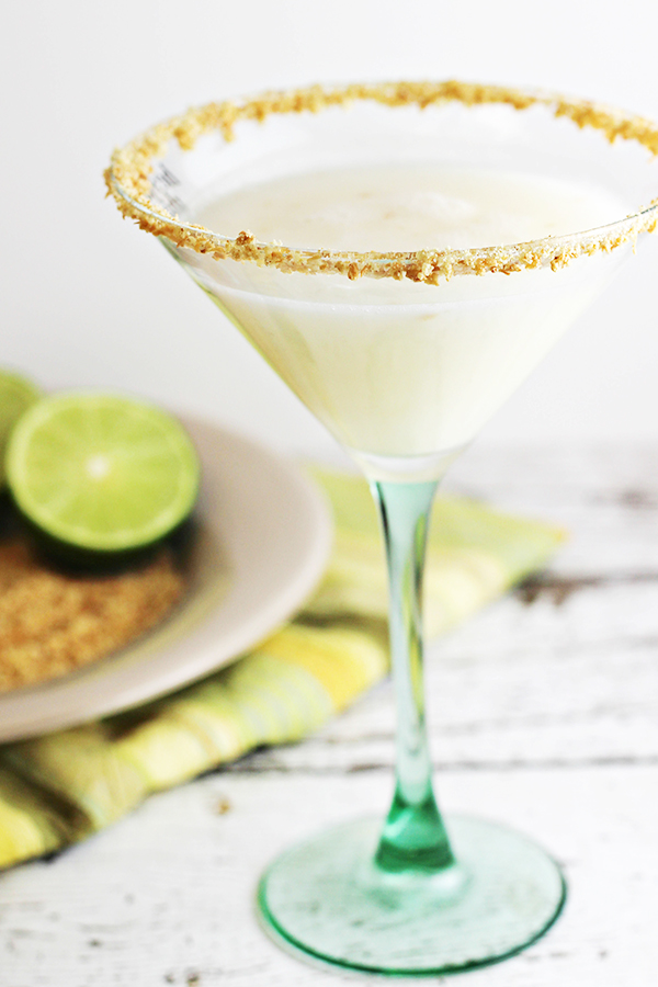 Coconut Key Lime Pie Martini, shared by Home Cooking Memories at The Chicken Chick's Clever Chicks Blog Hop