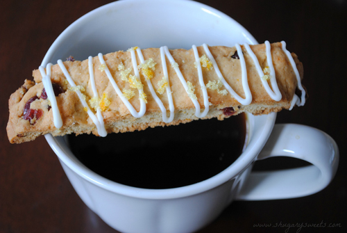 Cranberry Orange Biscotti from Shugary Sweets