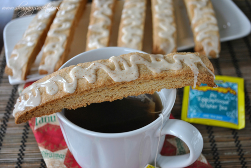 Eggnog Biscotti from Shugary Sweets