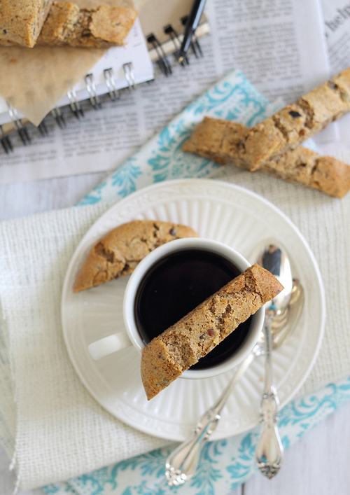 Ginger Almond Biscotti from Running to the Kitchen