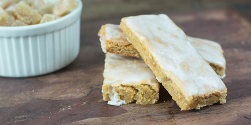 Iced Crystallized Ginger Biscotti from Kailleys Kitchen