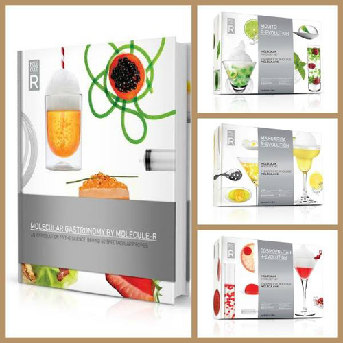 Molecule Gastronomy by Molecule-R Cookbook & Molecular Mixology Kits