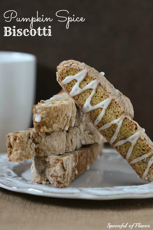 Pumpkin Spice Biscotti from Spoonful of Flavor