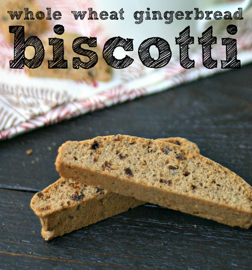 Whole Wheat Gingerbread Biscotti from Everyday Maven