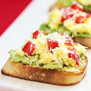Egg and Avocado Breakfast Crostini Recipe