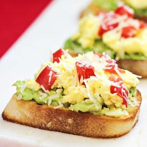 Egg and Avocado Breakfast Costini Recipe