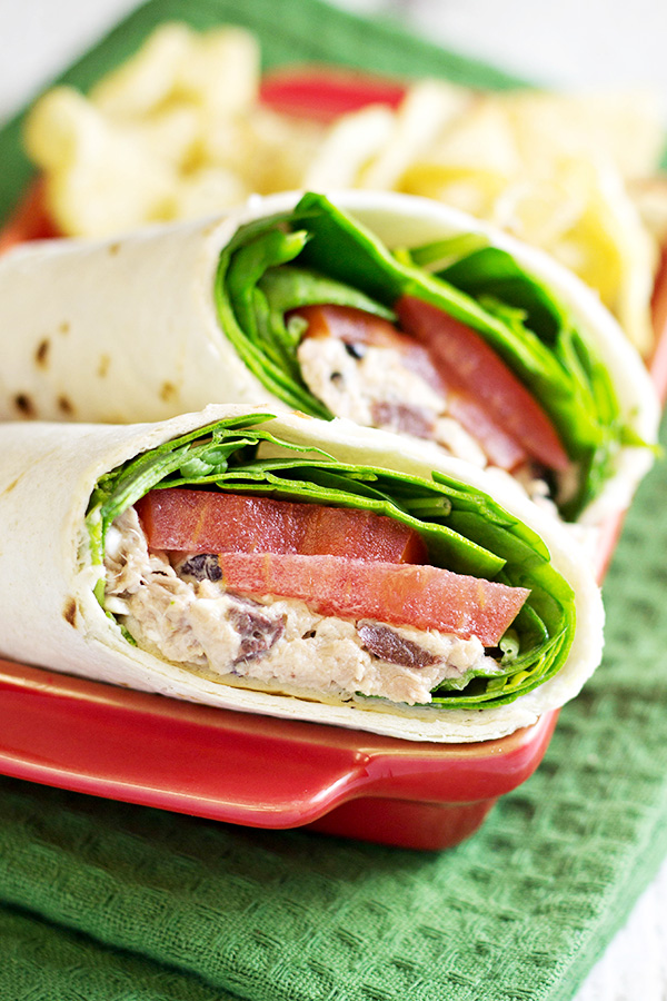 Greek Tuna Salad Wraps Recipe