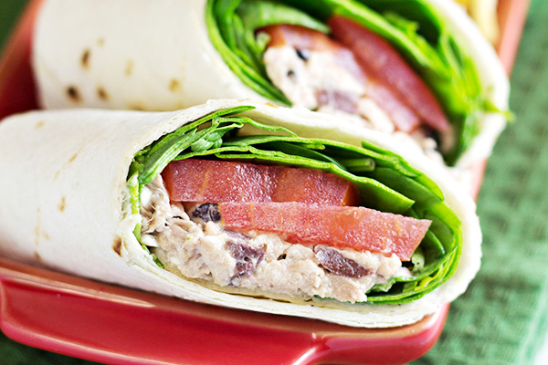 Greek Tuna Salad Wraps Recipe
