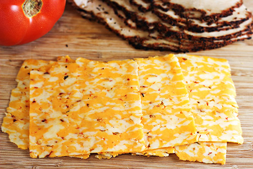 Spicy Southwestern Turkey Panini - Boars Head 3 Pepper Colby Jack Cheese