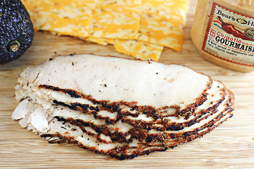 Spicy Southwestern Turkey Panini - Boars Head Blackened Oven Roasted Turkey Breast