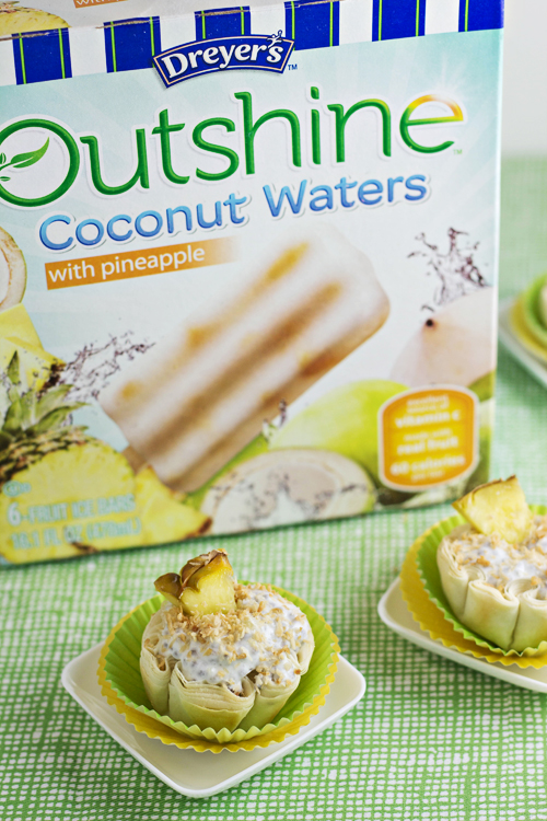 Tropical Chia Pudding Bites with #Outshine Frozen Bars