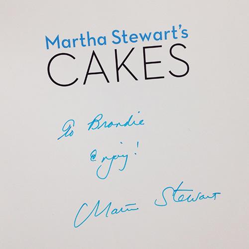 Autographed Martha Stewart's Cakes cookbook