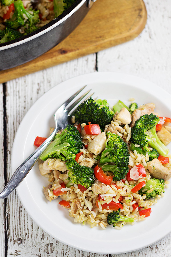 20-Minute Chicken and Rice Skillet Dinner Recipe